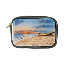 Sunset Beach Watercolor Coin Purse by TonyaButcher