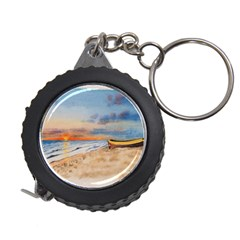 Sunset Beach Watercolor Measuring Tape by TonyaButcher