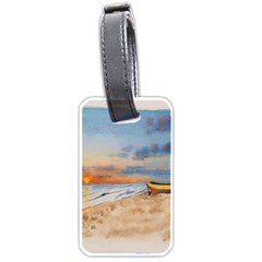 Sunset Beach Watercolor Luggage Tag (two Sides) by TonyaButcher
