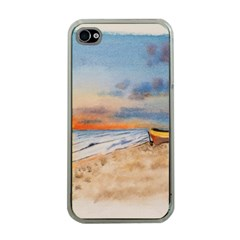 Sunset Beach Watercolor Apple Iphone 4 Case (clear) by TonyaButcher