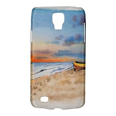 Sunset Beach Watercolor Samsung Galaxy S4 Active (i9295) Hardshell Case by TonyaButcher