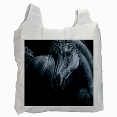 Equine Grace  White Reusable Bag (two Sides)