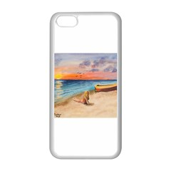 Alone On Sunset Beach Apple Iphone 5c Seamless Case (white)