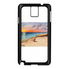 Alone On Sunset Beach Samsung Galaxy Note 3 N9005 Case (black) by TonyaButcher