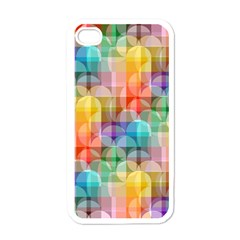 Circles Apple Iphone 4 Case (white)
