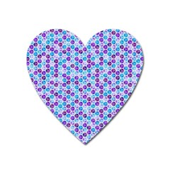 Purple Blue Cubes Magnet (heart)