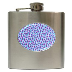 Purple Blue Cubes Hip Flask by Zandiepants