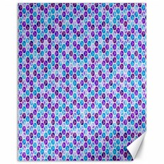 Purple Blue Cubes Canvas 11  X 14  (unframed) by Zandiepants