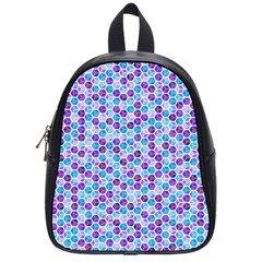Purple Blue Cubes School Bag (small)