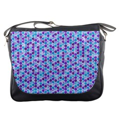 Purple Blue Cubes Messenger Bag by Zandiepants