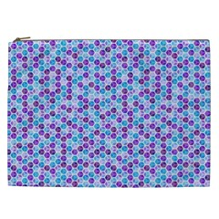Purple Blue Cubes Cosmetic Bag (xxl)