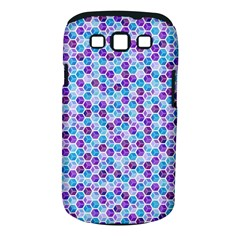 Purple Blue Cubes Samsung Galaxy S Iii Classic Hardshell Case (pc+silicone) by Zandiepants