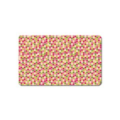 Pink Green Beehive Pattern Magnet (name Card)