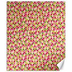 Pink Green Beehive Pattern Canvas 8  X 10  (unframed) by Zandiepants