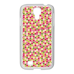 Pink Green Beehive Pattern Samsung Galaxy S4 I9500/ I9505 Case (white) by Zandiepants