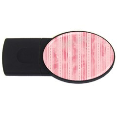 Pink Grunge 4gb Usb Flash Drive (oval) by StuffOrSomething