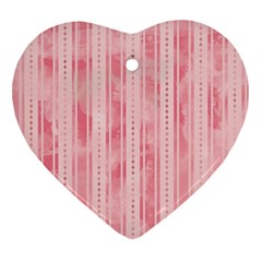 Pink Grunge Heart Ornament (two Sides) by StuffOrSomething
