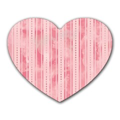 Pink Grunge Mouse Pad (heart) by StuffOrSomething