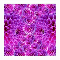 Purple Dahlias Glasses Cloth (medium) by FunWithFibro