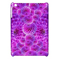 Purple Dahlias Apple Ipad Mini Hardshell Case by FunWithFibro