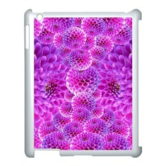 Purple Dahlias Apple Ipad 3/4 Case (white) by FunWithFibro