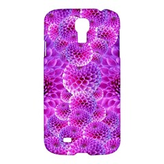 Purple Dahlias Samsung Galaxy S4 I9500/i9505 Hardshell Case by FunWithFibro