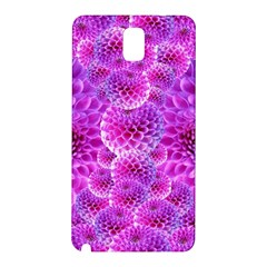 Purple Dahlias Samsung Galaxy Note 3 N9005 Hardshell Back Case by FunWithFibro