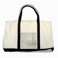 Eiffel Tower Paris Two Toned Tote Bag