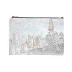Eiffel Tower Paris Cosmetic Bag (large) by rokinronda