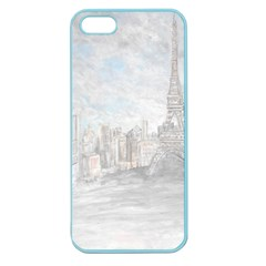 Eiffel Tower Paris Apple Seamless Iphone 5 Case (color) by rokinronda
