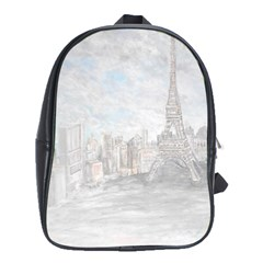 Eiffel Tower Paris School Bag (xl)