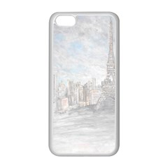 Eiffel Tower Paris Apple Iphone 5c Seamless Case (white) by rokinronda