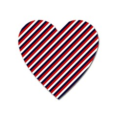 Diagonal Patriot Stripes Magnet (heart) by StuffOrSomething