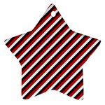 Diagonal Patriot Stripes Star Ornament (Two Sides) Back