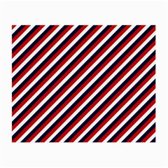 Diagonal Patriot Stripes Glasses Cloth (small, Two Sided) by StuffOrSomething