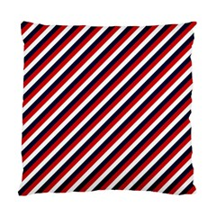 Diagonal Patriot Stripes Cushion Case (two Sided)  by StuffOrSomething