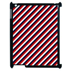 Diagonal Patriot Stripes Apple Ipad 2 Case (black) by StuffOrSomething