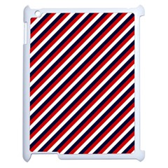 Diagonal Patriot Stripes Apple Ipad 2 Case (white) by StuffOrSomething