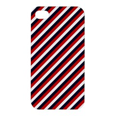 Diagonal Patriot Stripes Apple Iphone 4/4s Hardshell Case by StuffOrSomething