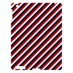 Diagonal Patriot Stripes Apple Ipad 3/4 Hardshell Case by StuffOrSomething