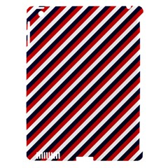 Diagonal Patriot Stripes Apple Ipad 3/4 Hardshell Case (compatible With Smart Cover) by StuffOrSomething