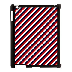 Diagonal Patriot Stripes Apple Ipad 3/4 Case (black) by StuffOrSomething