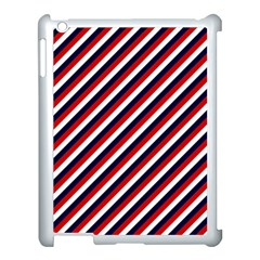 Diagonal Patriot Stripes Apple Ipad 3/4 Case (white) by StuffOrSomething