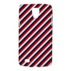 Diagonal Patriot Stripes Samsung Galaxy S4 Active (i9295) Hardshell Case by StuffOrSomething
