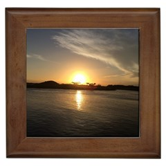 Sunset Beach Framed Ceramic Tile