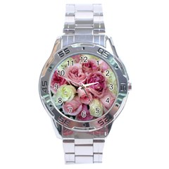 Tapestry Wedding Bouquet Stainless Steel Analogue Men's Watch
