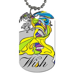 Faerie Wish Dog Tag (one Sided) by StuffOrSomething