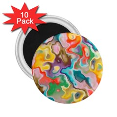 Marble 2 25  Button Magnet (10 Pack) by Lalita