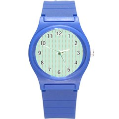 Hearts & Stripes Plastic Sport Watch (small) by StuffOrSomething