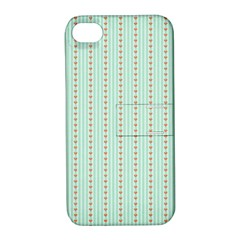 Hearts & Stripes Apple Iphone 4/4s Hardshell Case With Stand by StuffOrSomething